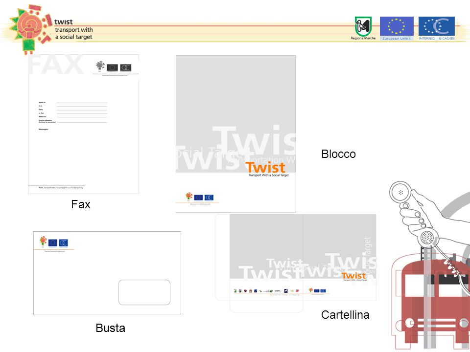 Busta Blocco Cartellina Fax