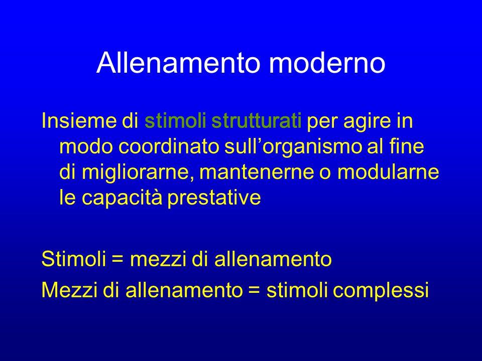 STIMOLI ALTERAZIONE STATO DI EQUILIBRIO ADATTAMENTO ALLENAMENTO PRESTAZIONE SPORTIVA