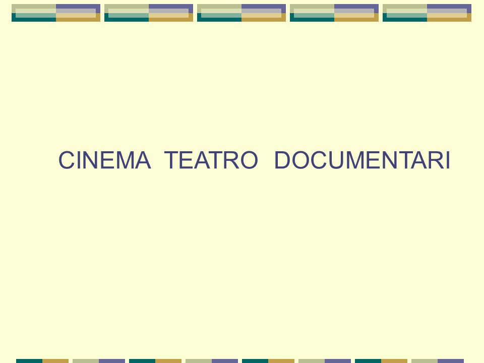 CINEMA TEATRO DOCUMENTARI