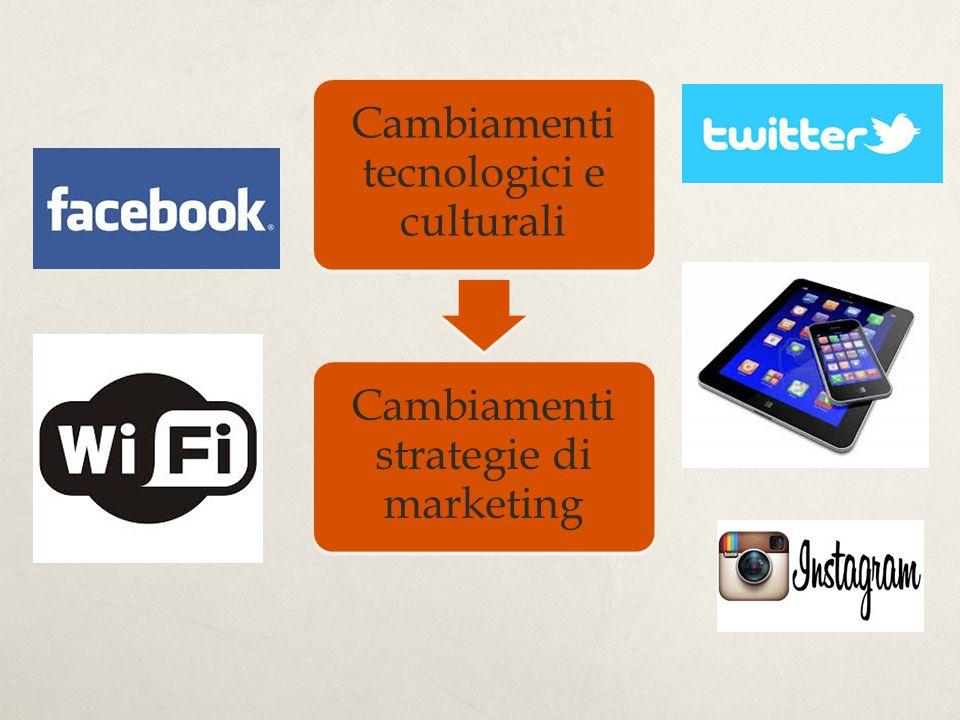 Cambiamenti tecnologici e culturali Cambiamenti strategie di marketing