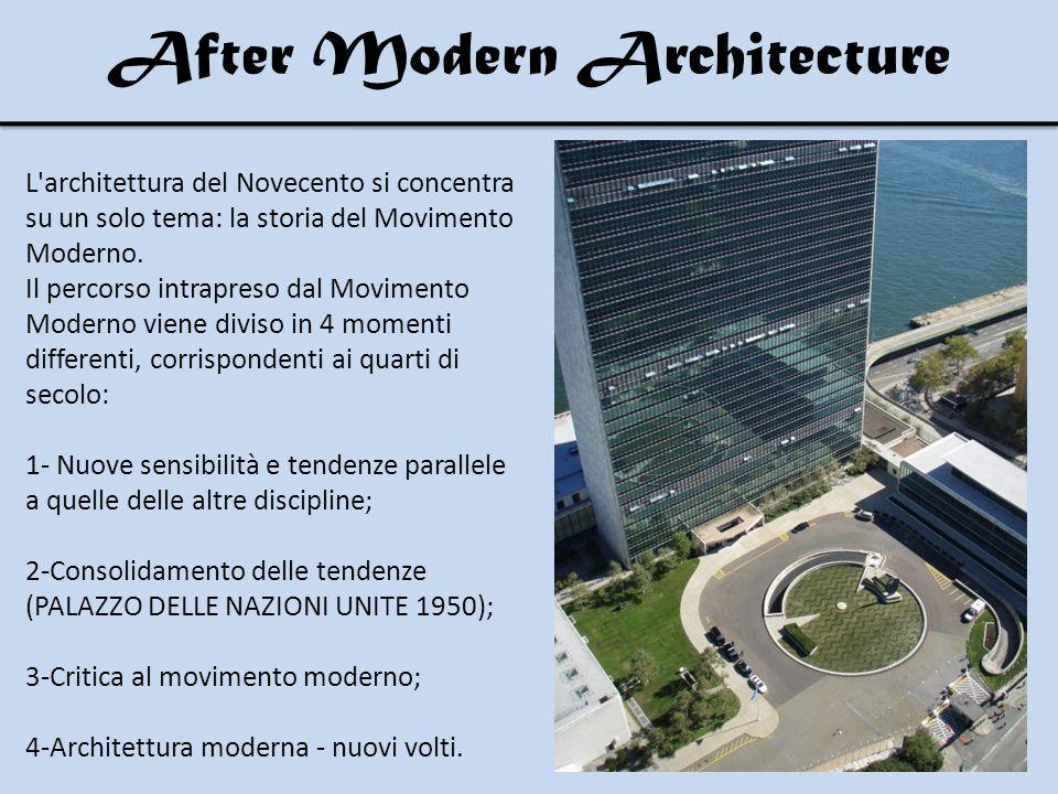 L architettura del Novecento si concentra su un solo tema: la storia del Movimento Moderno.