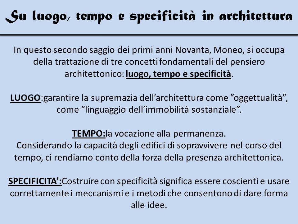 Moneo cerca di definire le differenze esistenti tra l'architettura contemporanea e quella moderna.