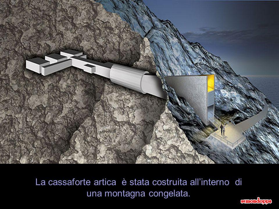La cassaforte artica è stata costruita all'interno di una montagna congelata.