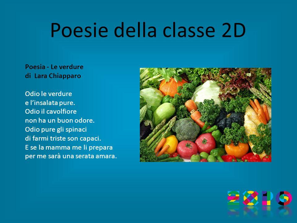 Poesia - Le verdure di Lara Chiapparo Odio le verdure e l'insalata pure.