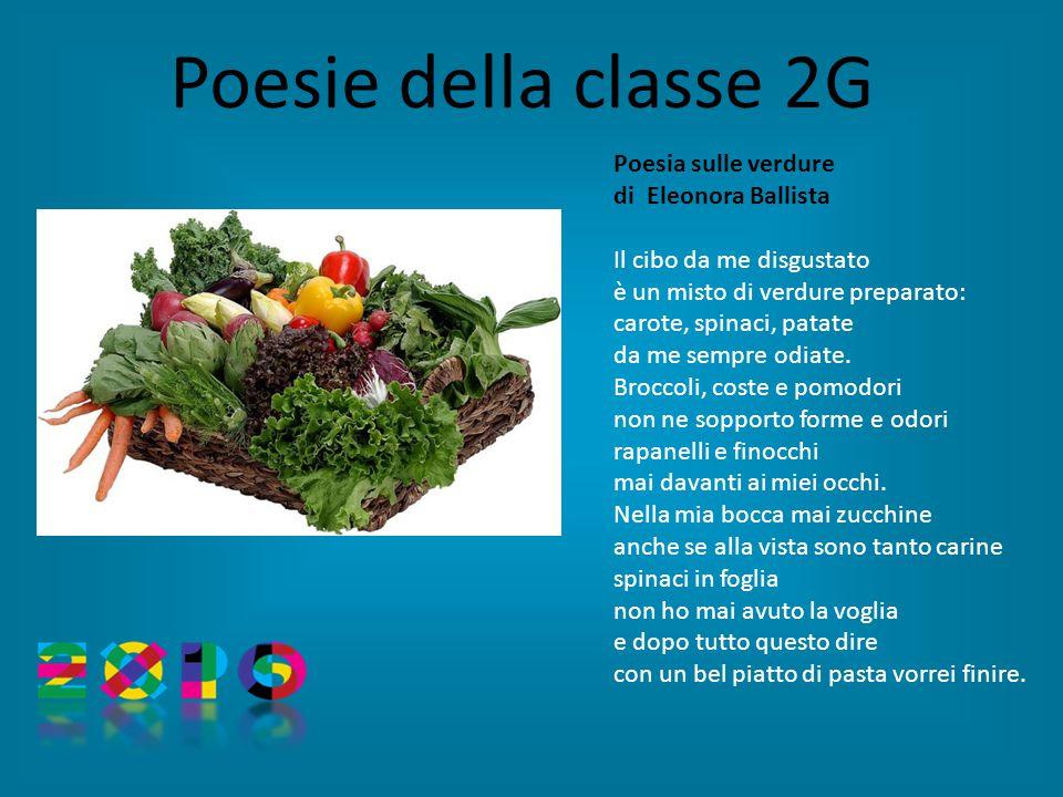 Poesia sulle verdure di Eleonora Ballista Il cibo da me disgustato è un misto di verdure preparato: carote, spinaci, patate da me sempre odiate.