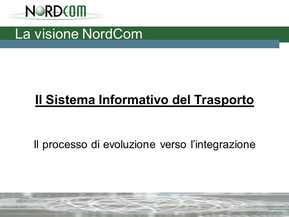 La visione NordCom Il Sistema Informativo del Trasporto Il processo di evoluzione verso l'integrazione