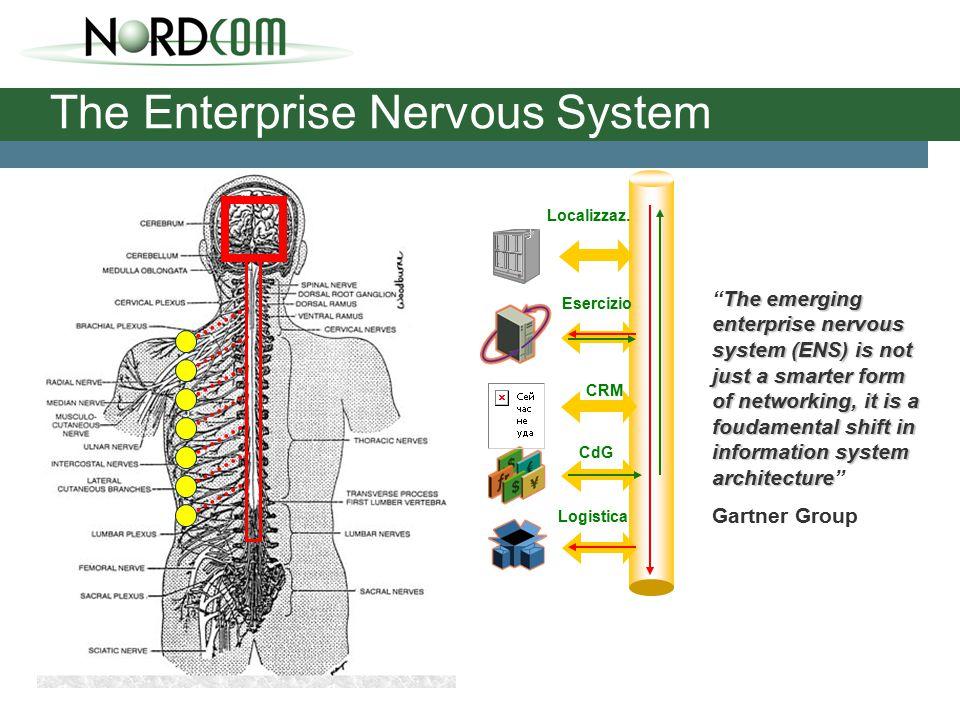The Enterprise Nervous System Esercizio CdG CRM Logistica Localizzaz.