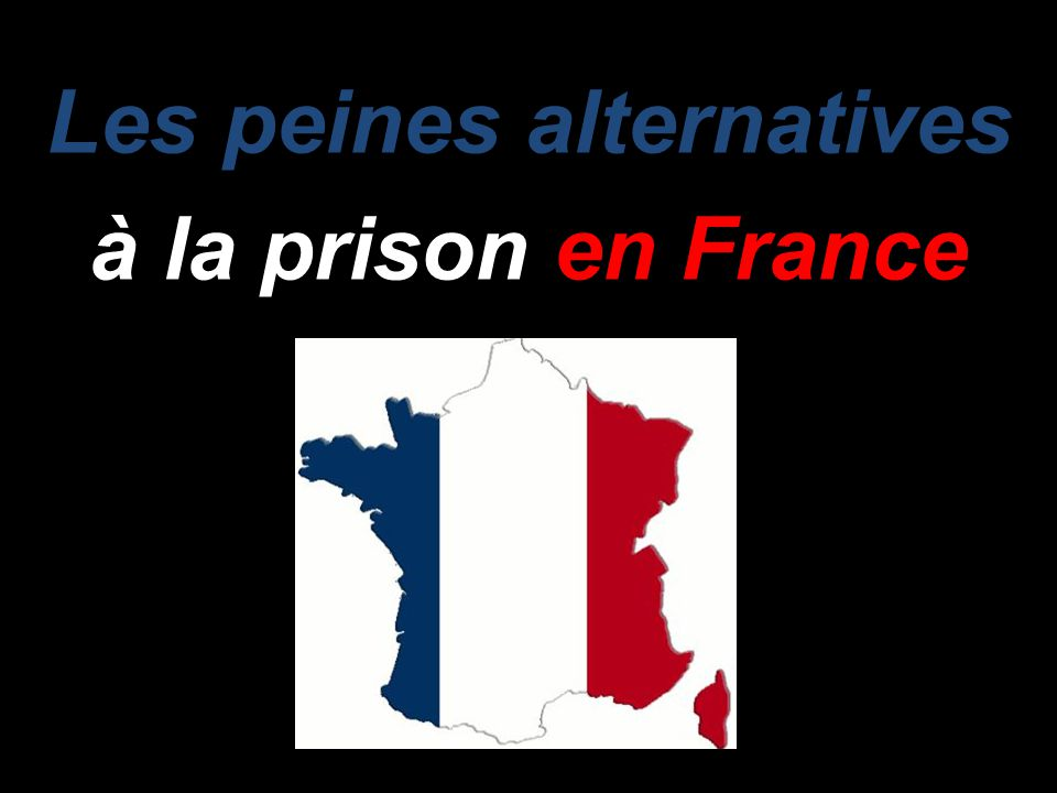 Les peines alternatives à la prison en France