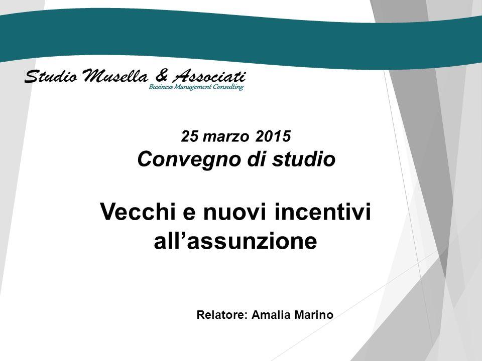 25 marzo 2015 Convegno di studio La Nuova Assicurazione Sociale per l'Impiego (NASpI) Relatore: Mattia D'Acunto