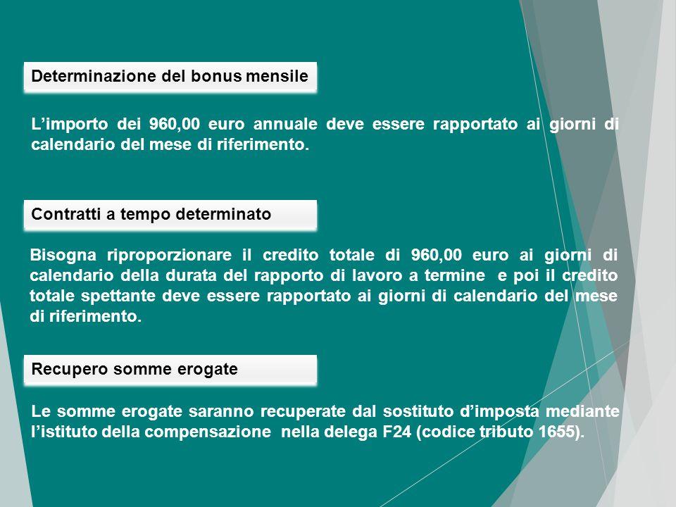 """Il bonus viene riconosciuto in modo automatico. La circolare n.8/E dell'Agenzia delle Entrate del 28/04/2014, precisa che: """"i sostituti di imposta, de"""