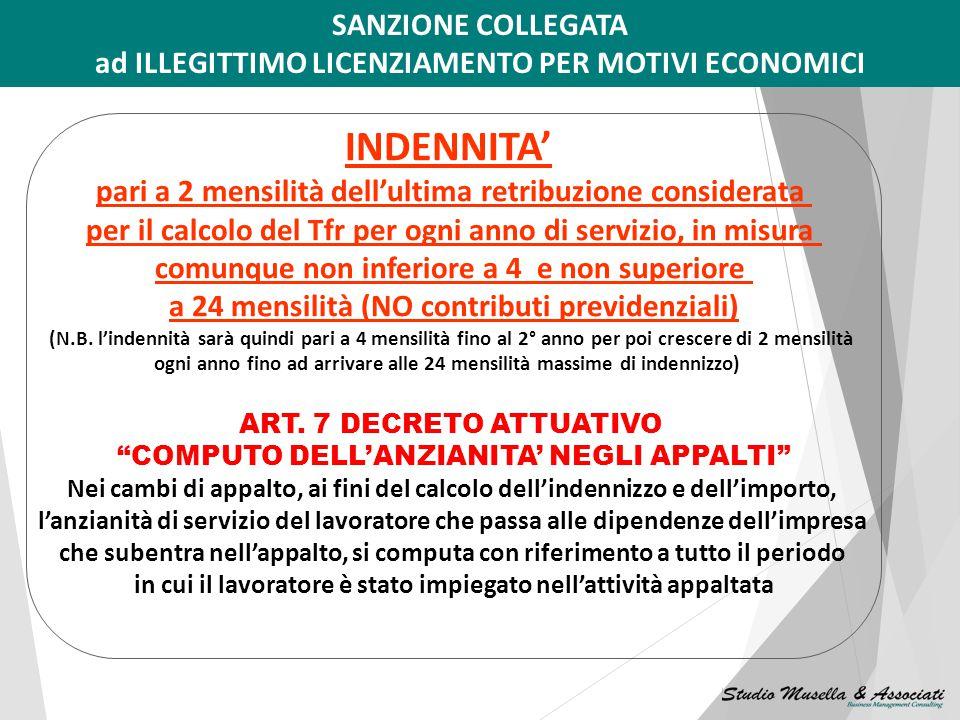 3) LICENZIAMENTO PER MOTIVI ECONOMICI ART. 10 DECRETO ATTUATIVO LICENZIAMENTI COLLETTIVI (di cui agli artt. 4 e 24 L.223/1991) per: -violazione delle