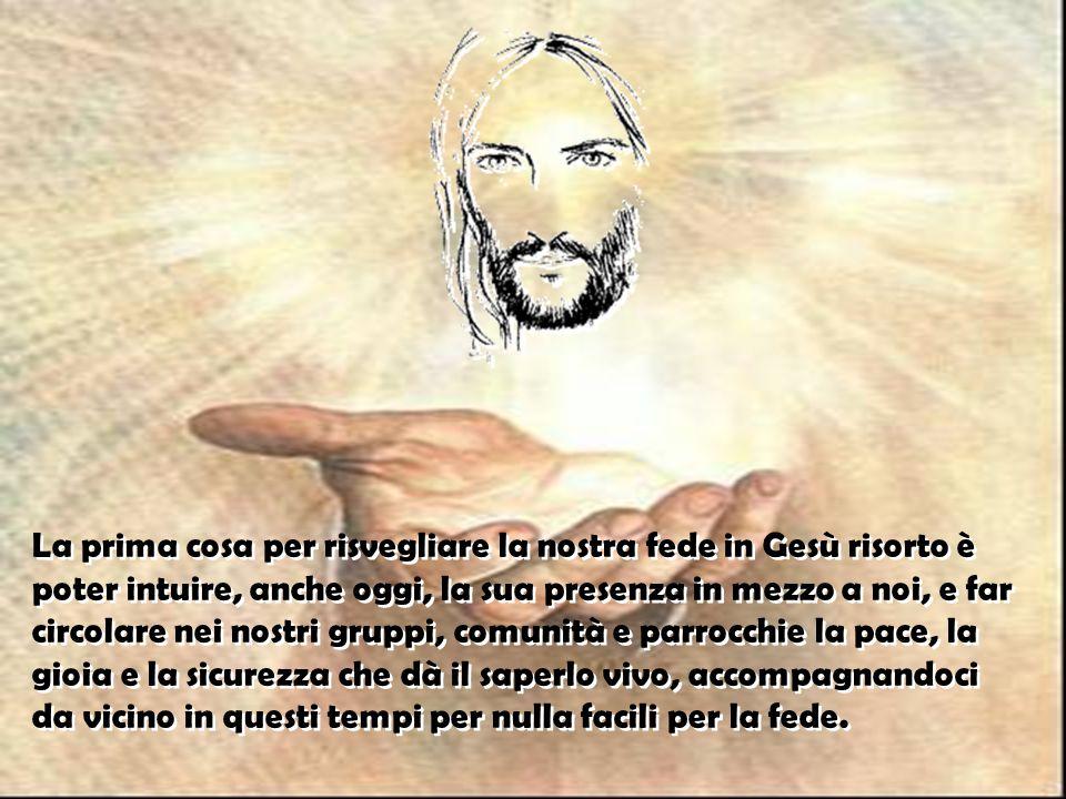 Allora «Gesù in persona stette in mezzo a loro e disse: Allora «Gesù in persona stette in mezzo a loro e disse: