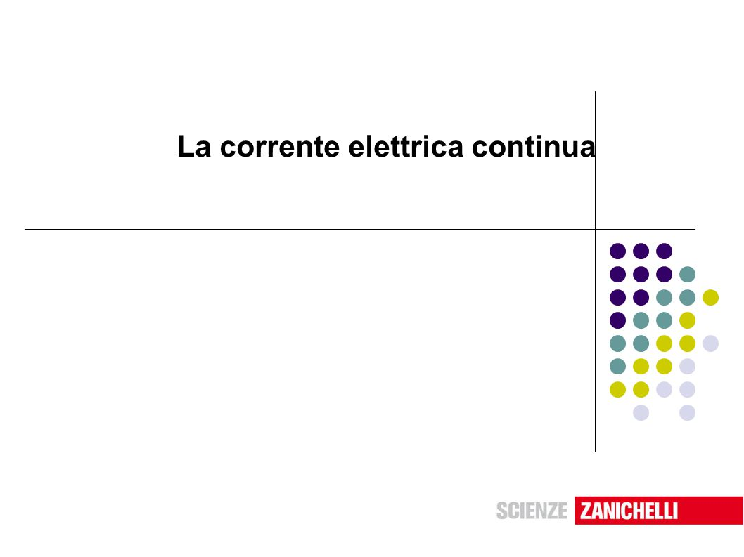 Unità 12 La corrente elettrica continua