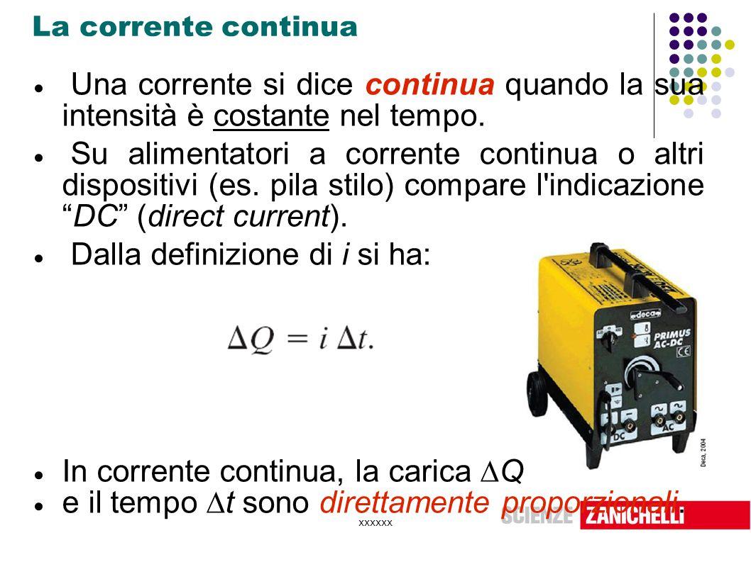 xxxxxx Resistori in serie  Invece il  V totale è la somma delle singole differenze di potenziale ai capi di R 1 e R 2 :   Poiché è e, si ha: , dunque