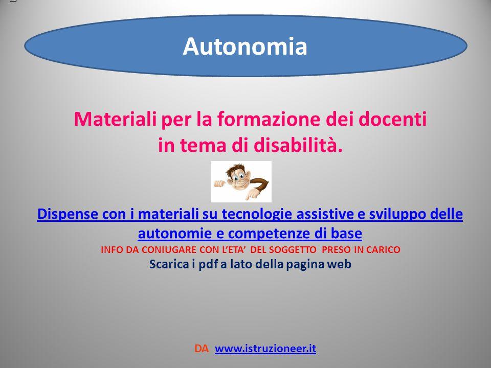 Autonomia Pianificazione della transizione alla vita adulta autonoma degli alunni con disabilità.