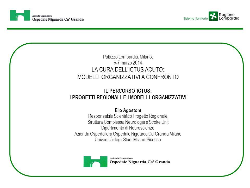 Palazzo Lombardia, Milano, 6-7 marzo 2014 LA CURA DELL'ICTUS ACUTO: MODELLI ORGANIZZATIVI A CONFRONTO IL PERCORSO ICTUS: I PROGETTI REGIONALI E I MODE