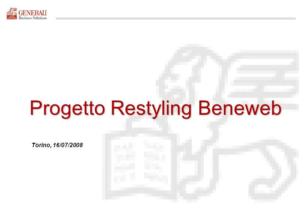 Bozza Progetto Restyling Beneweb Torino, 16/07/2008 per discussione