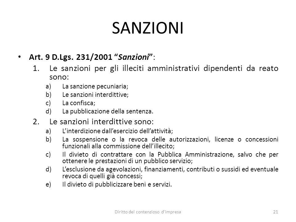 SANZIONI Art. 9 D.Lgs.