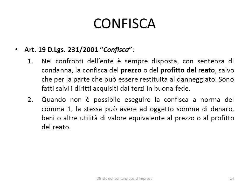 CONFISCA Art. 19 D.Lgs.