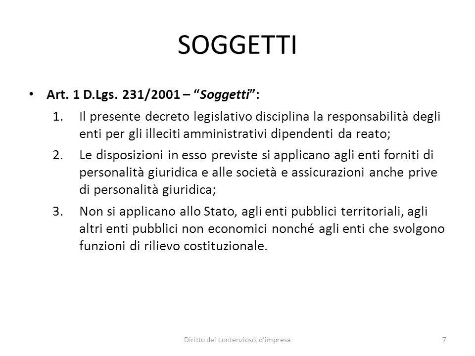 Caso Impregilo Ufficio Indagini Preliminari di Milano – 17.11.2009 Deve andare esente da responsabilità amministrativa ex d.lgs.