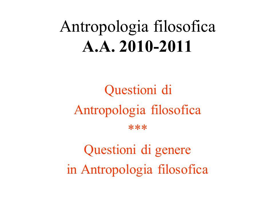 INDICE Modulo I (istituzionale): -I.Questioni di Antropologia filosofica -I.