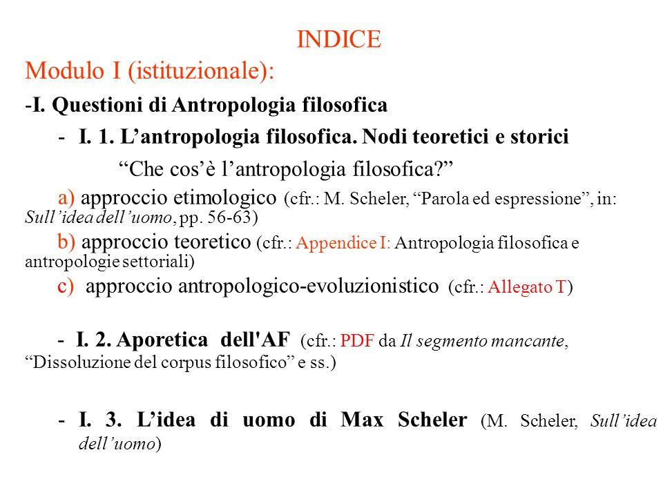 INDICE (segue) Modulo II (monografico): - II.