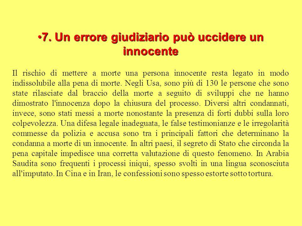 7.Un errore giudiziario può uccidere un innocente7.