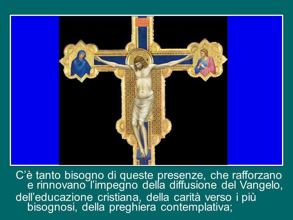 Così intesa e vissuta, la vita consacrata ci appare proprio come essa è realmente: è un dono di Dio, un dono di Dio alla Chiesa, un dono di Dio al suo
