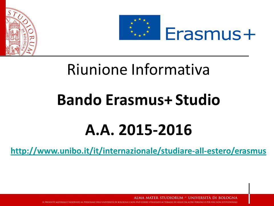 Riunione Informativa Bando Erasmus+ Studio A.A.