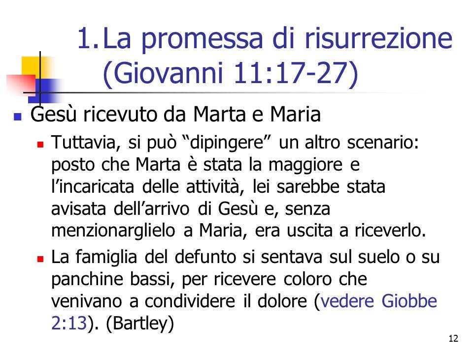 """12 Gesù ricevuto da Marta e Maria Tuttavia, si può """"dipingere"""" un altro scenario: posto che Marta è stata la maggiore e l'incaricata delle attività, l"""