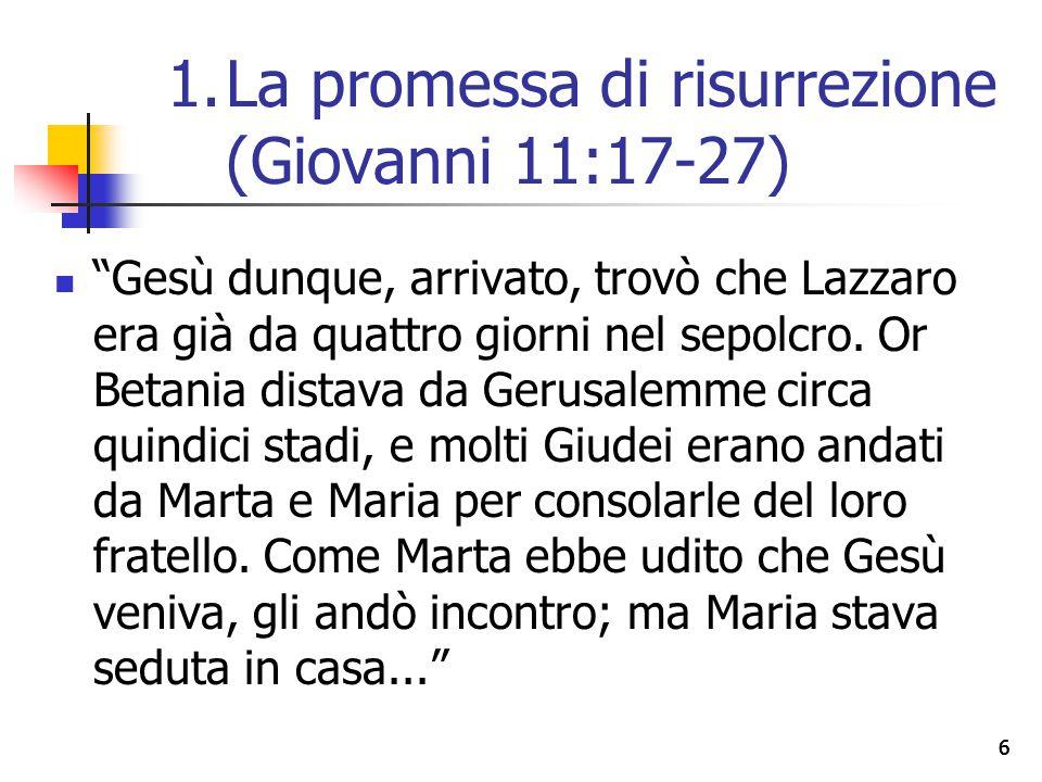 """66 """"Gesù dunque, arrivato, trovò che Lazzaro era già da quattro giorni nel sepolcro. Or Betania distava da Gerusalemme circa quindici stadi, e molti G"""