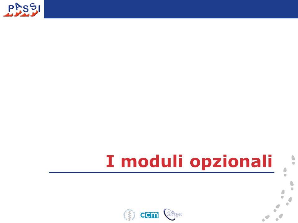 I moduli opzionali