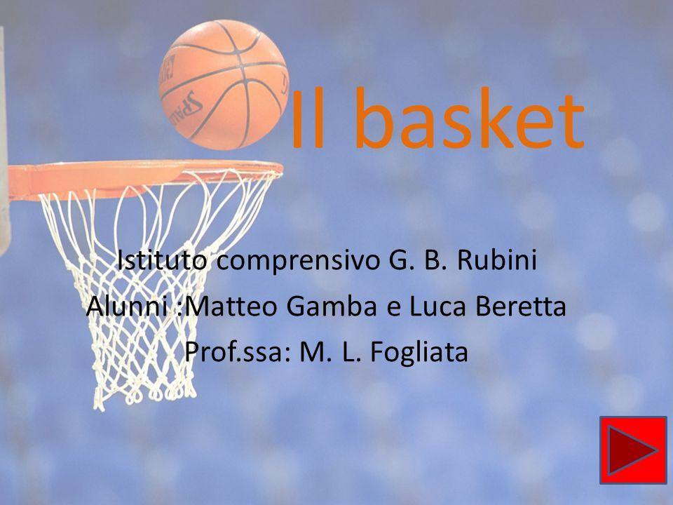Il basket Istituto comprensivo G. B. Rubini Alunni :Matteo Gamba e Luca Beretta Prof.ssa: M. L. Fogliata