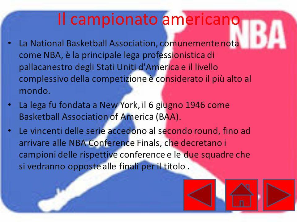 Il campionato americano La National Basketball Association, comunemente nota come NBA, è la principale lega professionistica di pallacanestro degli St