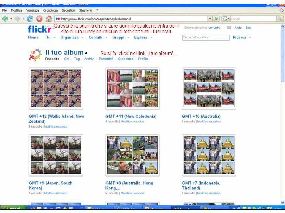 Questa è la pagina che si apre quando qualcuno entra per il sito di run4unity nell'album di foto con tutti i fusi orari.