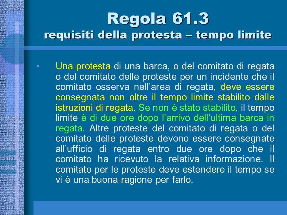 Qual'è il tempo limite per la presentazione di una protesta .