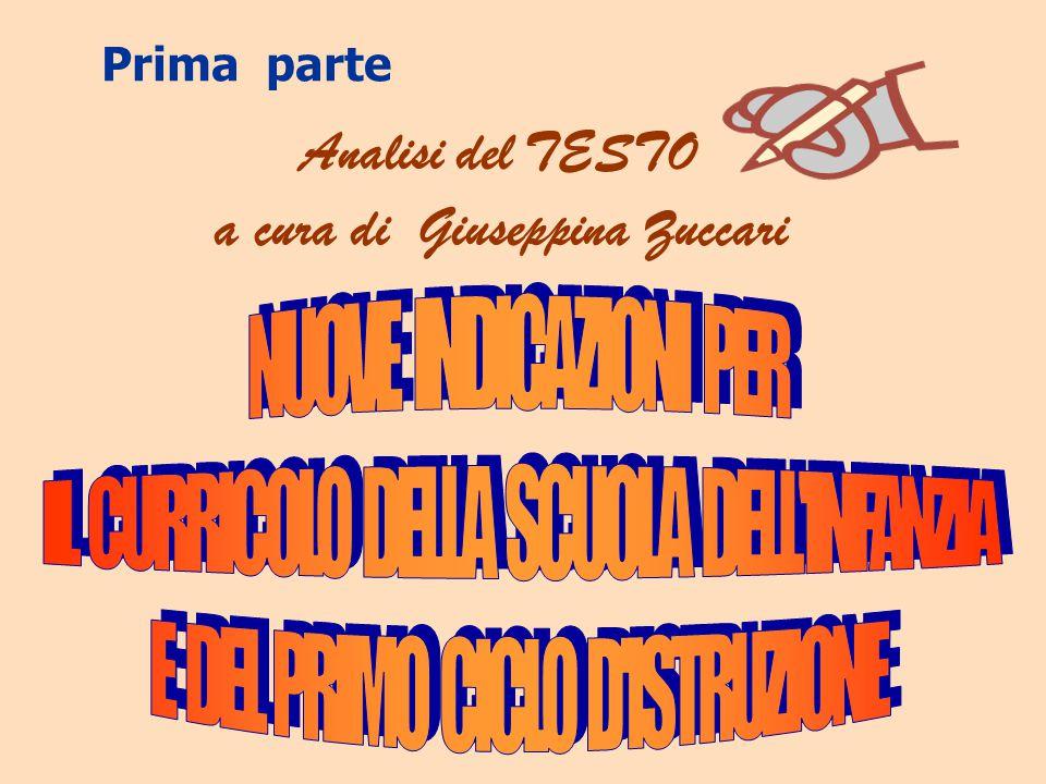 Analisi del TESTO a cura di Giuseppina Zuccari Prima parte