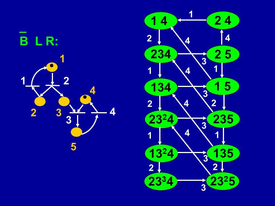   _ B L R: 1 23 4 5 12 3 4 1 4 234 134 1 5 2 4 2 1 3 1 2 5 3 4 23 2 4 2 1 235 3 4 4 13 2 4 1 135 3 4 1 2 23 3 4 2 23 2 5 3 4 2