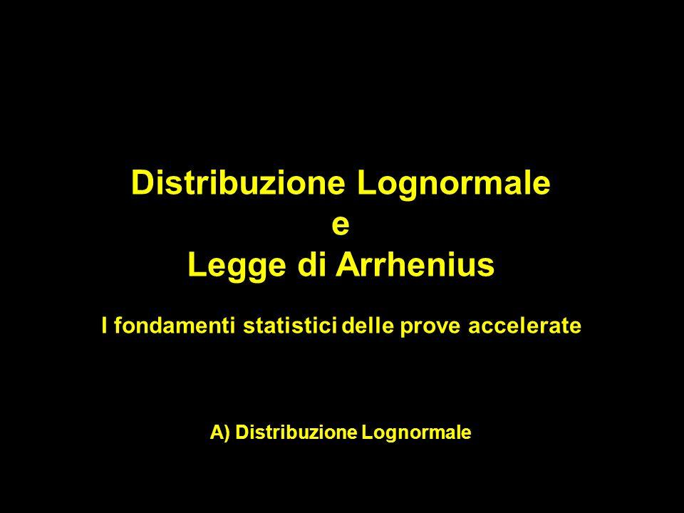 Distribuzione Lognormale e Legge di Arrhenius I fondamenti statistici delle prove accelerate A) Distribuzione Lognormale