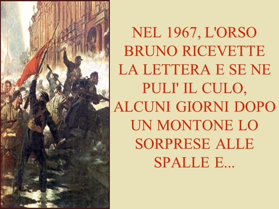 NEL 1967, L'ORSO BRUNO RICEVETTE LA LETTERA E SE NE PULI' IL CULO, ALCUNI GIORNI DOPO UN MONTONE LO SORPRESE ALLE SPALLE E...
