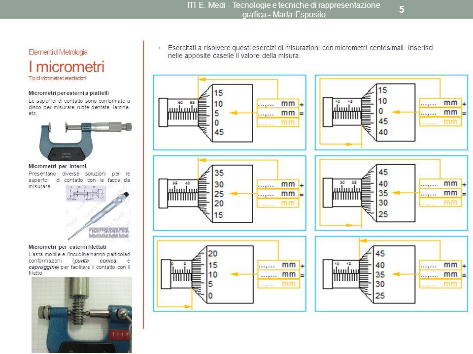 Esercitati a risolvere questi esercizi di misurazioni con micrometri centesimali. Inserisci nelle apposite caselle il valore della misura. Micrometri