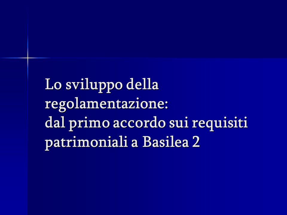 Lo sviluppo della regolamentazione: dal primo accordo sui requisiti patrimoniali a Basilea 2