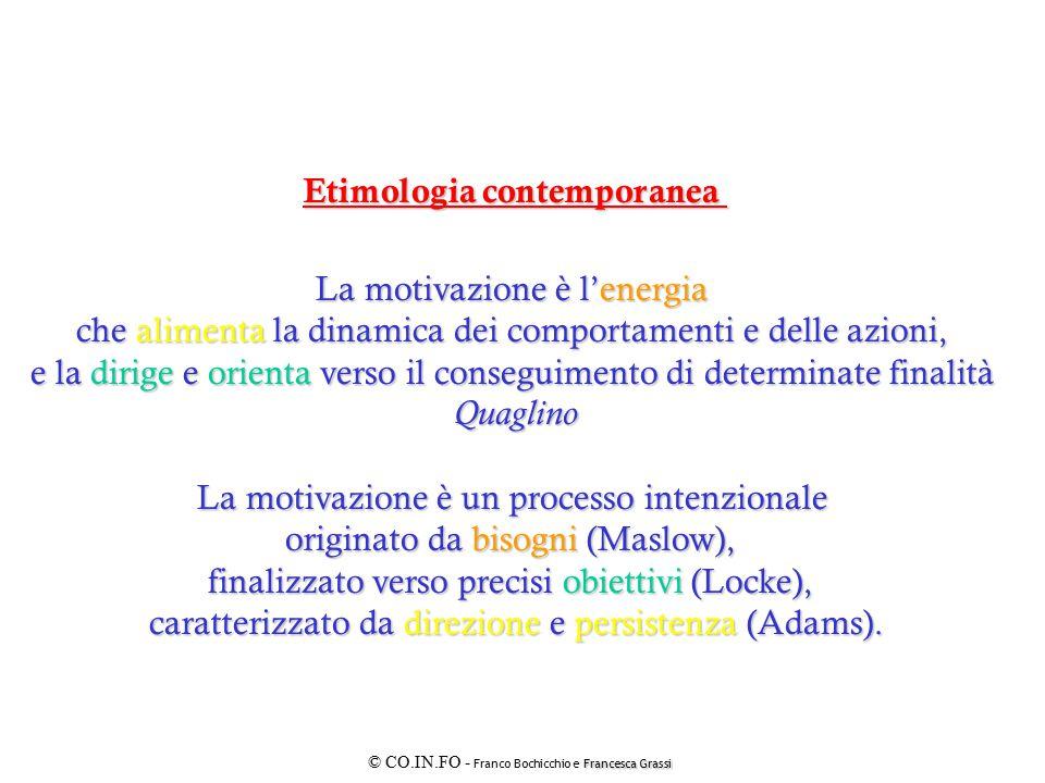 Francesca Grassi © CO.IN.FO - Franco Bochicchio e Francesca Grassi GLI ELEMENTI DELLA MOTIVAZIONE DIMENSIONEDELL'INDIVIDUO DIMENSIONE DELLA RELAZIONE DIMENSIONEDELL'ORGANIZZAZIONE DIDODR