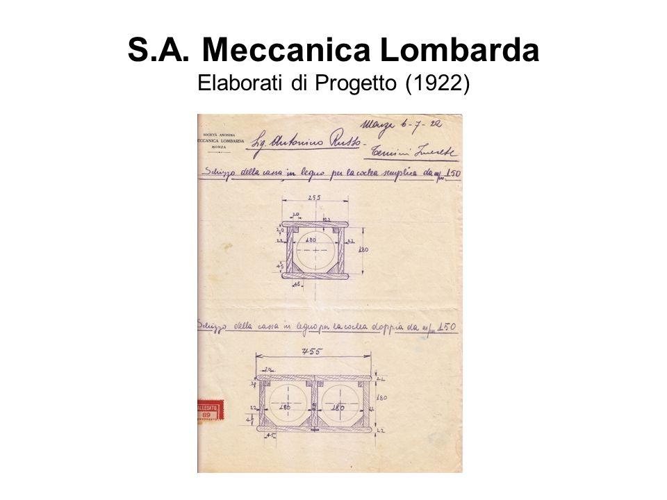 S.A. Meccanica Lombarda Elaborati di Progetto (1922)
