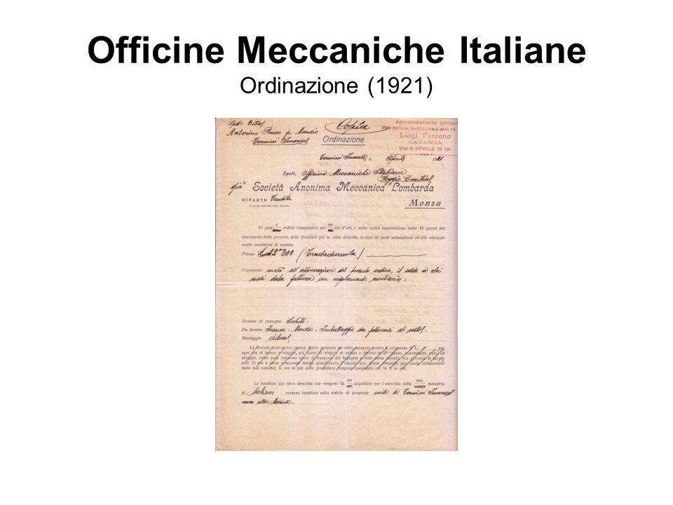 Officine Meccaniche Italiane Ordinazione (1921)