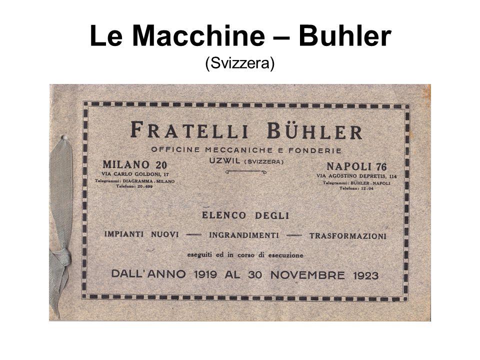 Le Macchine – Buhler (Svizzera)