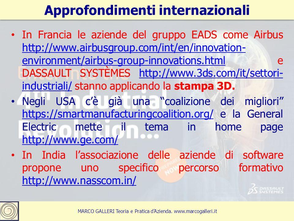 Approfondimenti internazionali 23 MARCO GALLERI Teoria e Pratica d'Azienda. www.marcogalleri.it In Francia le aziende del gruppo EADS come Airbus http