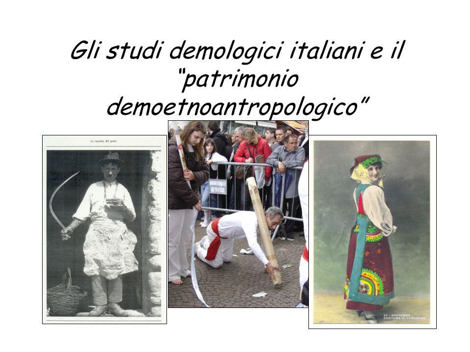 """Gli studi demologici italiani e il """"patrimonio demoetnoantropologico"""""""