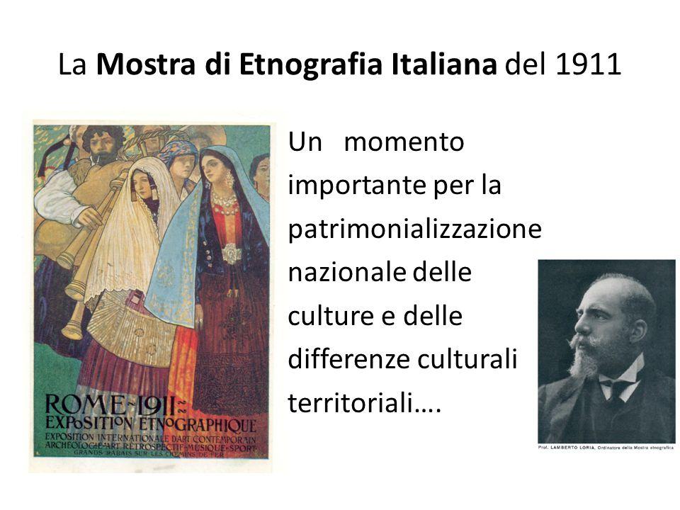 La Mostra di Etnografia Italiana del 1911 Un momento importante per la patrimonializzazione nazionale delle culture e delle differenze culturali terri