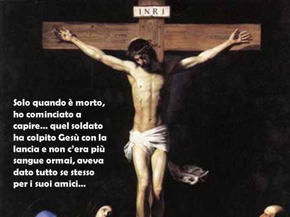 Quando l'hanno condannato, sono salita sulla croce con Lui, per non lasciarlo solo ma non capivo perché non si ribellasse: era più forte di tutti gli